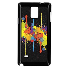 Crazy Multicolored Double Running Splashes Horizon Samsung Galaxy Note 4 Case (black)