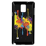 Crazy Multicolored Double Running Splashes Horizon Samsung Galaxy Note 4 Case (Black) Front