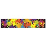 Crazy Multicolored Double Running Splashes Horizon Flano Scarf (Small) Back