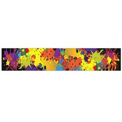 Crazy Multicolored Double Running Splashes Horizon Flano Scarf (large)