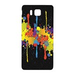Crazy Multicolored Double Running Splashes Horizon Samsung Galaxy Alpha Hardshell Back Case Front