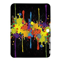 Crazy Multicolored Double Running Splashes Horizon Samsung Galaxy Tab 4 (10.1 ) Hardshell Case