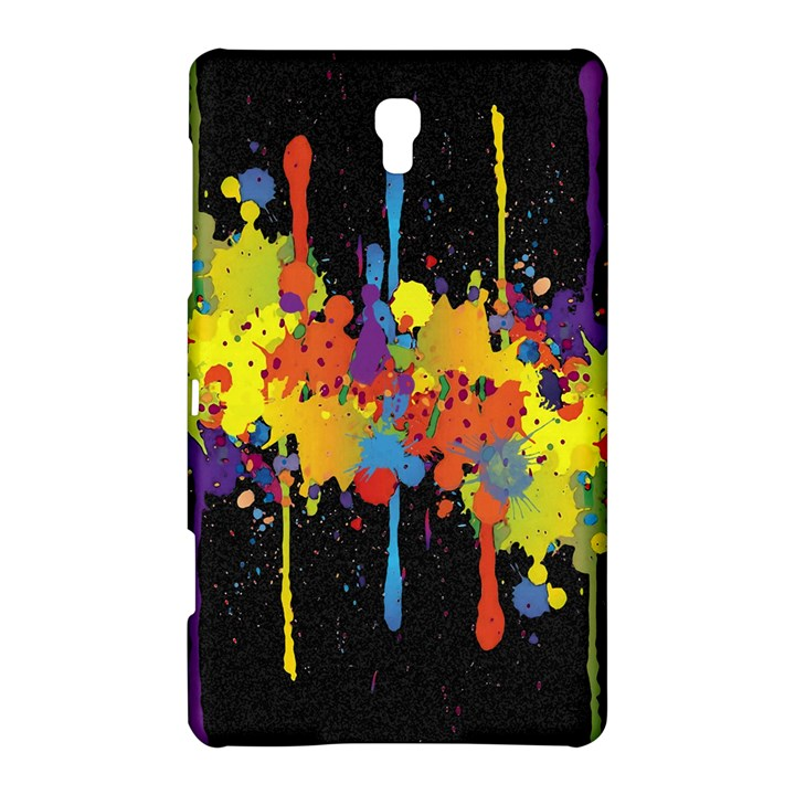 Crazy Multicolored Double Running Splashes Horizon Samsung Galaxy Tab S (8.4 ) Hardshell Case