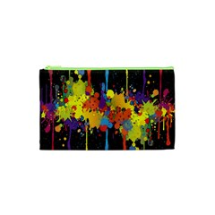Crazy Multicolored Double Running Splashes Horizon Cosmetic Bag (XS)