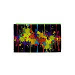 Crazy Multicolored Double Running Splashes Horizon Cosmetic Bag (XS) Front