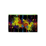 Crazy Multicolored Double Running Splashes Horizon Cosmetic Bag (XS) Back