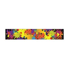 Crazy Multicolored Double Running Splashes Horizon Flano Scarf (mini)