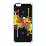 Crazy Multicolored Double Running Splashes Horizon Apple Seamless iPhone 6/6S Case (Color) Front