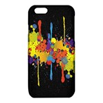Crazy Multicolored Double Running Splashes Horizon iPhone 6/6S TPU Case Front