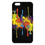 Crazy Multicolored Double Running Splashes Horizon iPhone 6 Plus/6S Plus TPU Case Front