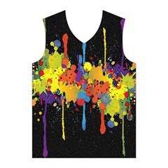 Crazy Multicolored Double Running Splashes Horizon Men s Basketball Tank Top