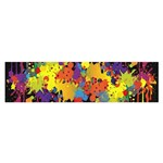 Crazy Multicolored Double Running Splashes Horizon Satin Scarf (Oblong) Front