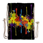 Crazy Multicolored Double Running Splashes Horizon Drawstring Bag (Large) Back