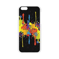 Crazy Multicolored Double Running Splashes Horizon Apple Seamless iPhone 6/6S Case (Transparent)