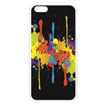 Crazy Multicolored Double Running Splashes Horizon Apple Seamless iPhone 6 Plus/6S Plus Case (Transparent) Front