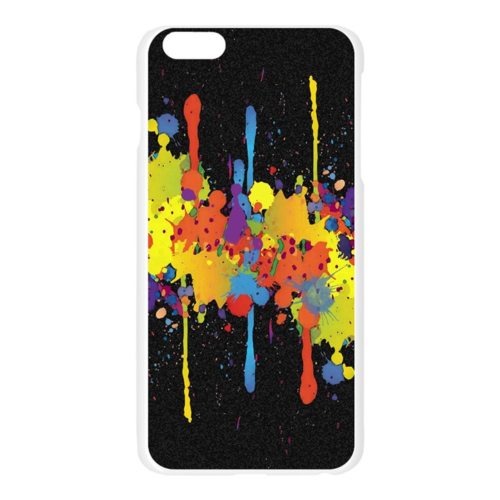 Crazy Multicolored Double Running Splashes Horizon Apple Seamless iPhone 6 Plus/6S Plus Case (Transparent)