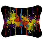 Crazy Multicolored Double Running Splashes Horizon Jigsaw Puzzle Photo Stand (Bow) Front