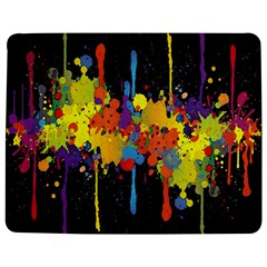 Crazy Multicolored Double Running Splashes Horizon Jigsaw Puzzle Photo Stand (Rectangular)