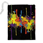 Crazy Multicolored Double Running Splashes Horizon Drawstring Pouches (XXL) Back