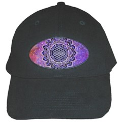 Flower Of Life Indian Ornaments Mandala Universe Black Cap
