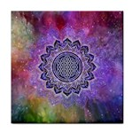 Flower Of Life Indian Ornaments Mandala Universe Tile Coasters Front