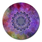 Flower Of Life Indian Ornaments Mandala Universe Round Mousepads Front