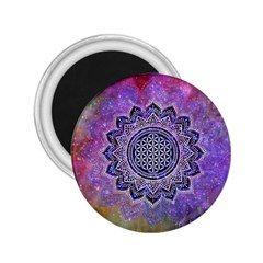 Flower Of Life Indian Ornaments Mandala Universe 2 25  Magnets