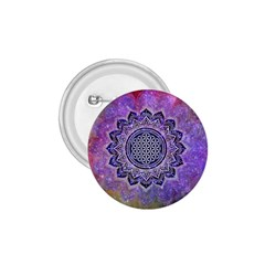 Flower Of Life Indian Ornaments Mandala Universe 1.75  Buttons
