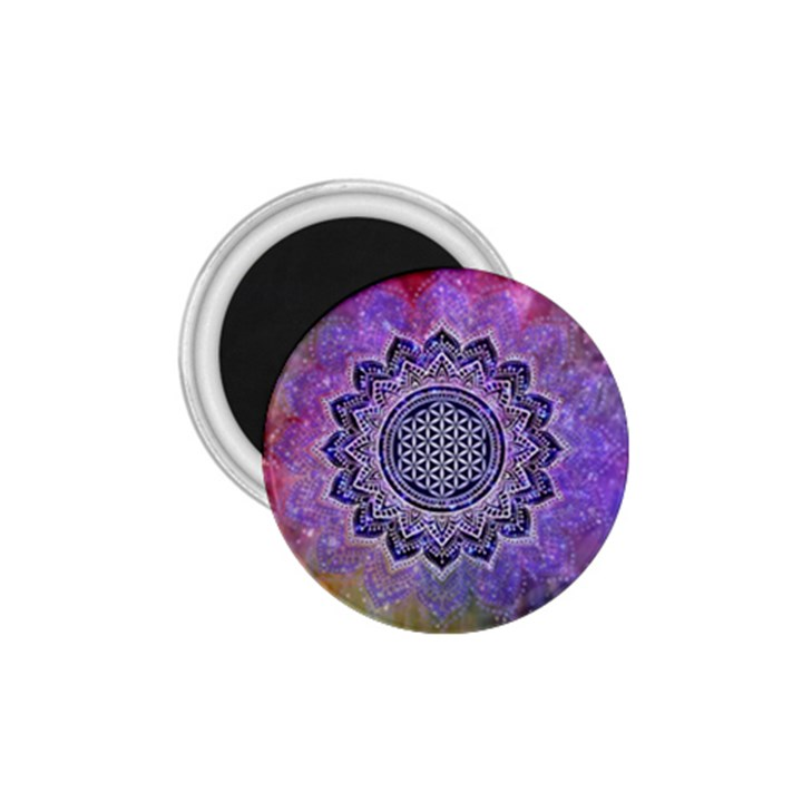 Flower Of Life Indian Ornaments Mandala Universe 1.75  Magnets