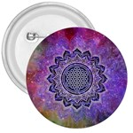 Flower Of Life Indian Ornaments Mandala Universe 3  Buttons Front
