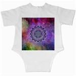Flower Of Life Indian Ornaments Mandala Universe Infant Creepers Back