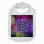 Flower Of Life Indian Ornaments Mandala Universe Bib Front