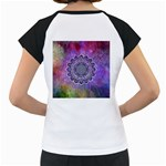 Flower Of Life Indian Ornaments Mandala Universe Women s Cap Sleeve T Back