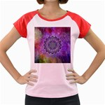 Flower Of Life Indian Ornaments Mandala Universe Women s Cap Sleeve T-Shirt Front