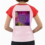 Flower Of Life Indian Ornaments Mandala Universe Women s Cap Sleeve T-Shirt Back