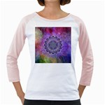 Flower Of Life Indian Ornaments Mandala Universe Girly Raglans Front