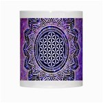 Flower Of Life Indian Ornaments Mandala Universe White Mugs Center