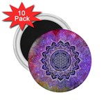 Flower Of Life Indian Ornaments Mandala Universe 2.25  Magnets (10 pack)  Front