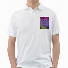 Flower Of Life Indian Ornaments Mandala Universe Golf Shirts