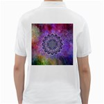 Flower Of Life Indian Ornaments Mandala Universe Golf Shirts Back