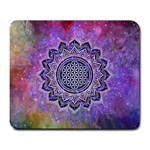 Flower Of Life Indian Ornaments Mandala Universe Large Mousepads Front