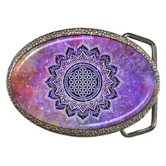 Flower Of Life Indian Ornaments Mandala Universe Belt Buckles