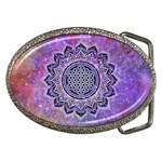 Flower Of Life Indian Ornaments Mandala Universe Belt Buckles Front