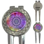 Flower Of Life Indian Ornaments Mandala Universe 3-in-1 Golf Divots Front