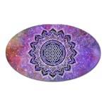 Flower Of Life Indian Ornaments Mandala Universe Oval Magnet Front