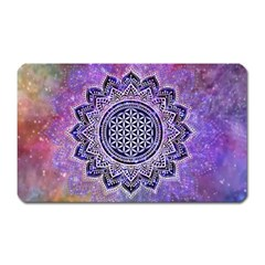 Flower Of Life Indian Ornaments Mandala Universe Magnet (Rectangular)