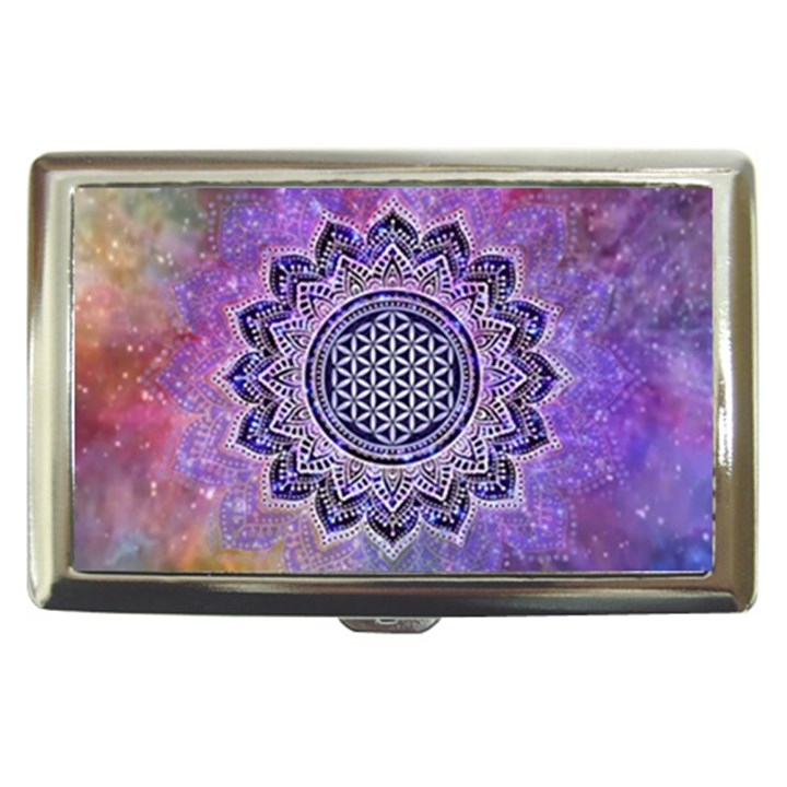 Flower Of Life Indian Ornaments Mandala Universe Cigarette Money Cases