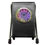 Flower Of Life Indian Ornaments Mandala Universe Pen Holder Desk Clocks Front