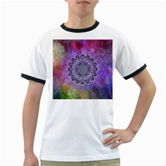 Flower Of Life Indian Ornaments Mandala Universe Ringer T Shirts