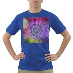 Flower Of Life Indian Ornaments Mandala Universe Dark T-Shirt